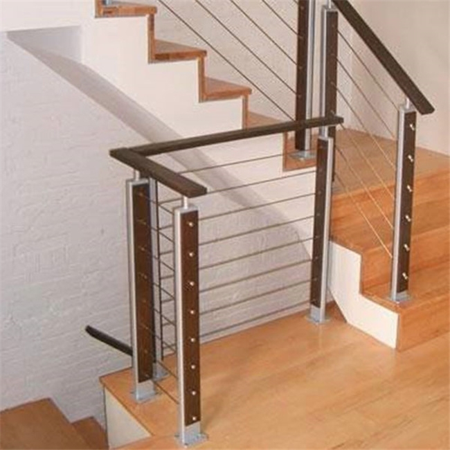 China Stainless Steel Cable Deck Railing Mounted On Floor Stair   Steel Cable Stair Railing   Diy   White   Balcony   Steel Wire   Industrial
