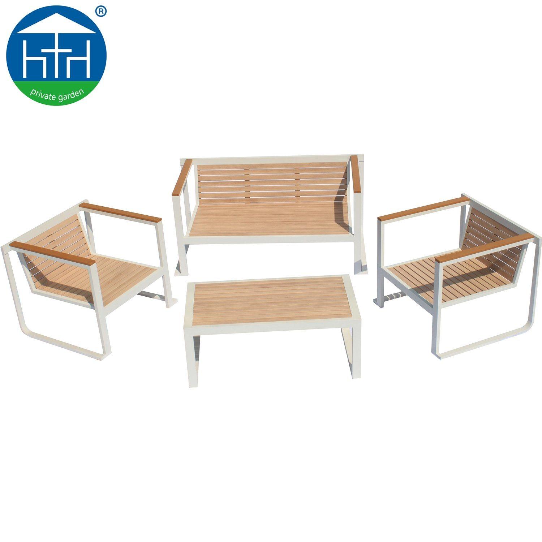 China Antique Wooden Painting Outdoor Furniture Design Aluminum Sofa Set China Garden Sofa Patio Sofa
