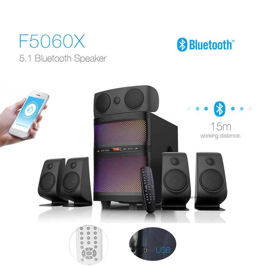 hot item 5 1 home theater multimedia bluetooth speaker surround sound hifi speaker with changeable led lights