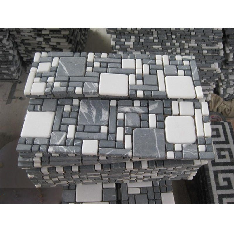 stone backsplash tile mosaic borders