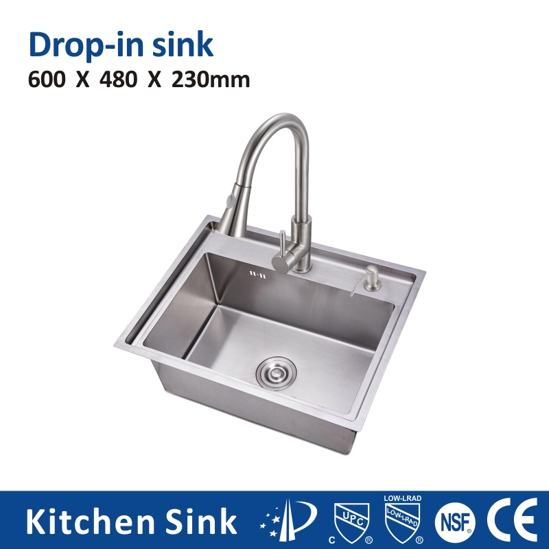 hot item malaysia r10 18gauge 30 inch large sinks built in cabinet single double sink with step farmhouse stainless steel sink welding handcraft
