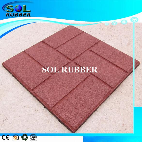 design outdoor patio rubber floor mat