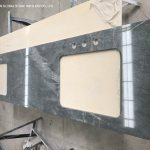 China Fantasy Marble Quartzite Countertops Sky Blue Galaxy Grey Granite Stone Double Sinks Vanity Tops For Bathroom Design China Kitchen Countertops Fantasy Granite Countertops