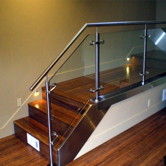 China Stainless Steel Stair Railing Post Glass Railing Design | Stair Railing Design Glass | Basement Stairs | Modern Staircase | Stair Treads | Oak Staircase | Stainless Steel Railing
