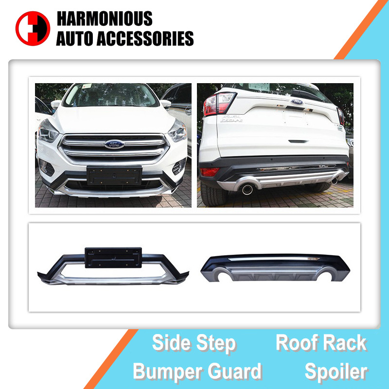 hot item front and rear bumper guard for ford escape kuga 2017