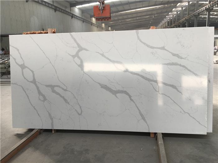 hot item artificial stone polished honed black white beige sf v20190911b calacatta classic quartz lowes for interiors indoor kitchen bathroom