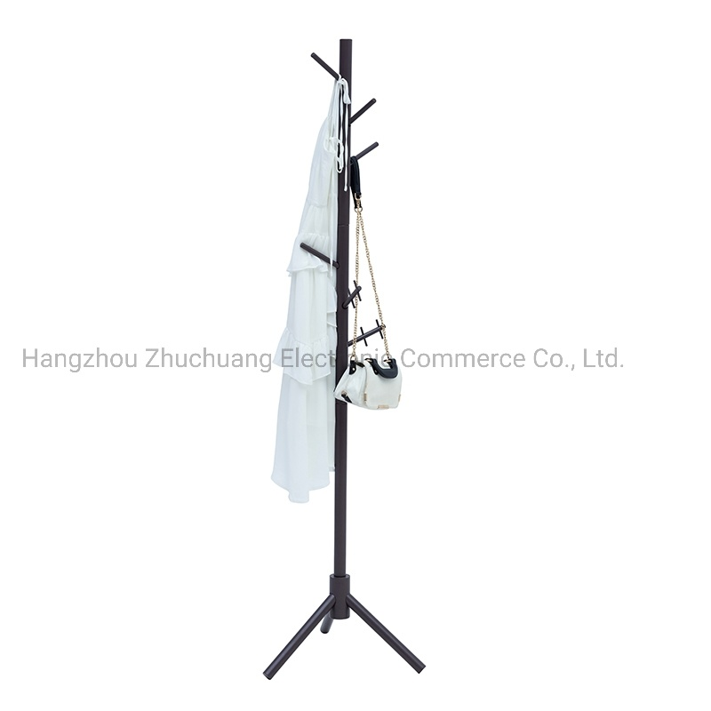 hot item free standing clothes hanging stand wooden clothing hanger garment rack on sale