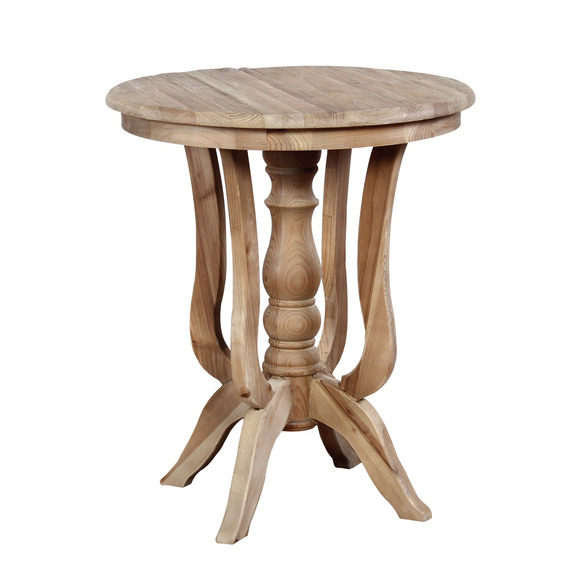 unique reclaimed wood round end tables