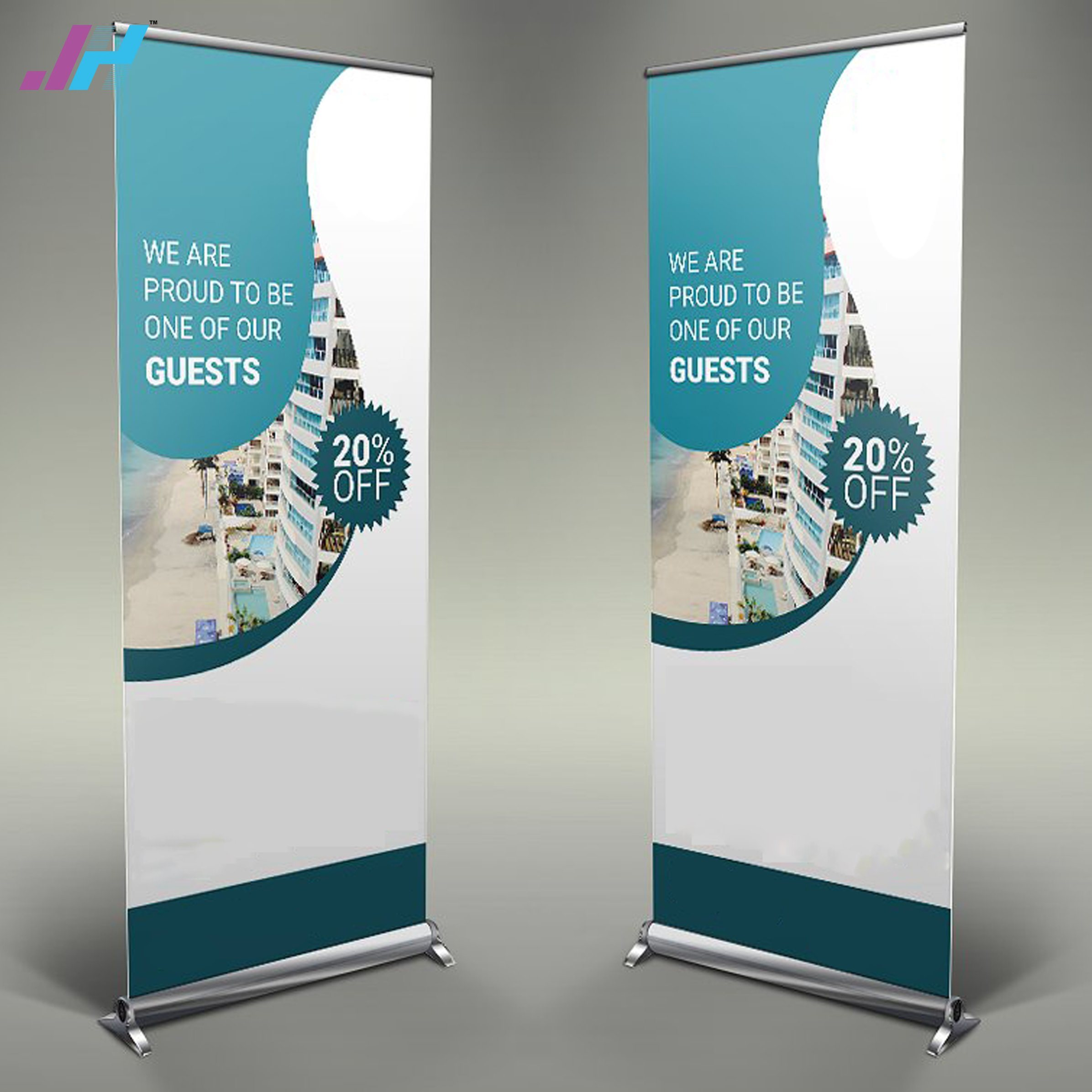 china pull up scrolling roll up banner