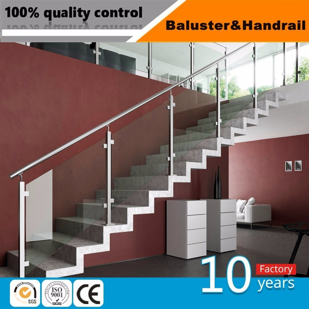 China Inox Glass Stair Balustrade Stainless Steel Handrails For | Stainless Steel Handrails For Outdoor Steps | Modern | Safety | Staircase | Garden | External
