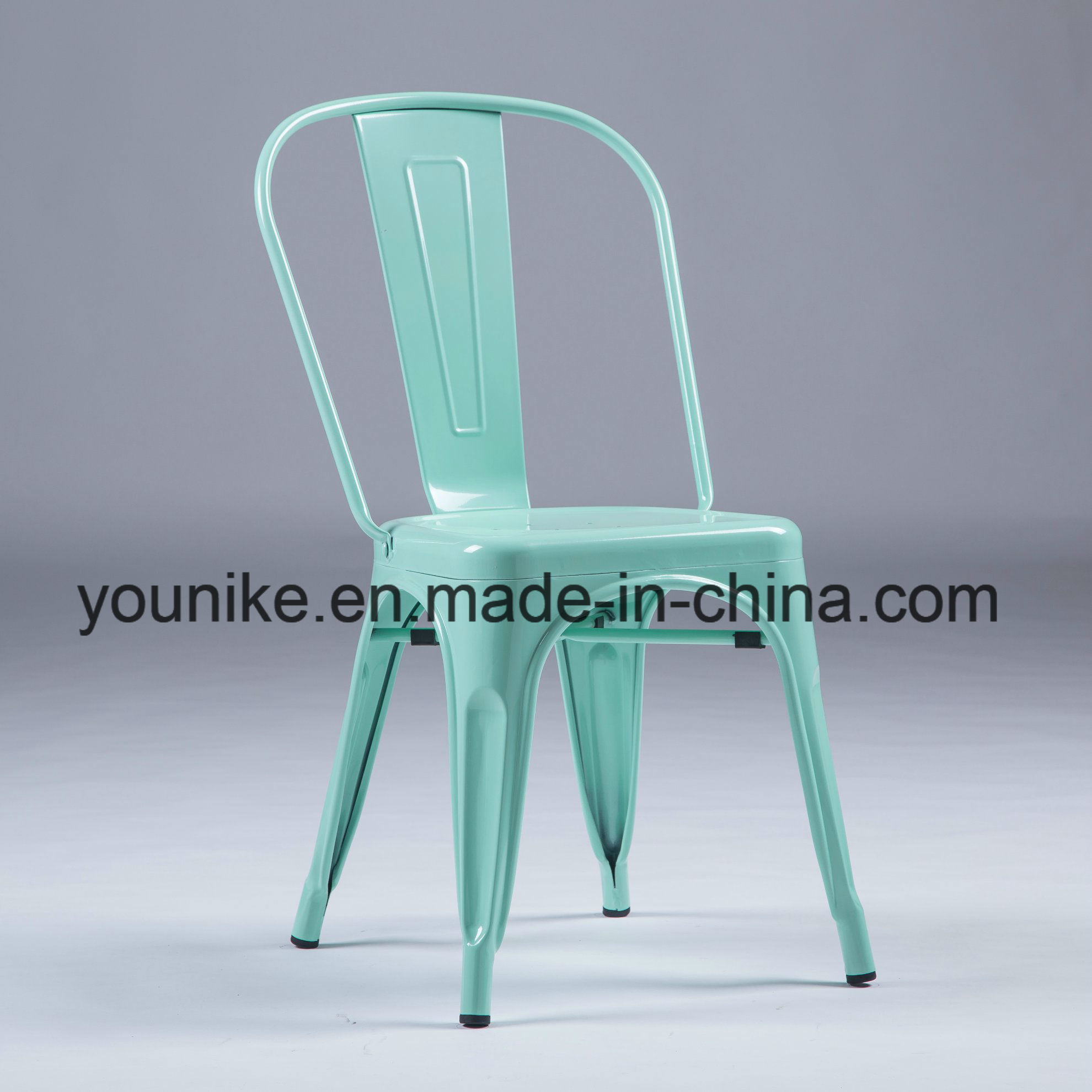 Hot Item Industrial Modern Metal Tolix Dining Chairs Stackable Dream Blue