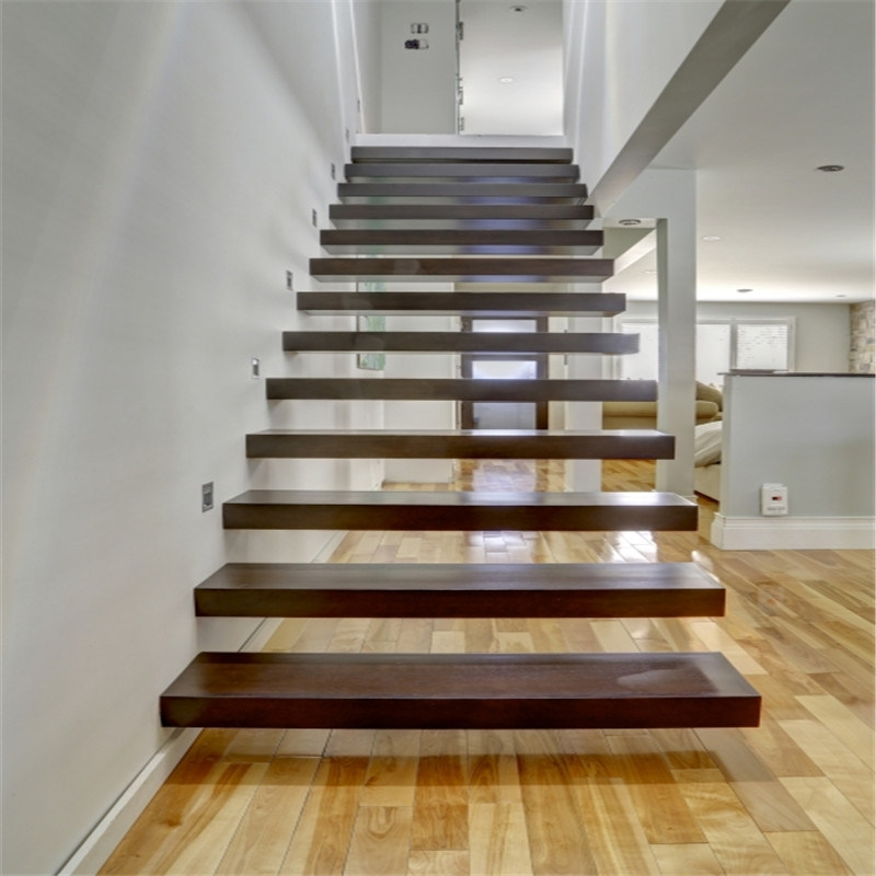 China Glass Railing Floating Staircase With Thick Solid Timber | Floating Stairs With Glass Railing | Duplex Balcony | Combination Glass | Glass Balustrade | Crystal Handrail | Innovative Glass
