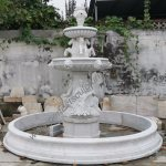 China Garden Stone Marble Water Pool Fountain With Lady Horse Sculpture Sy F482 China Outdoor Fountain And Water Feature Price