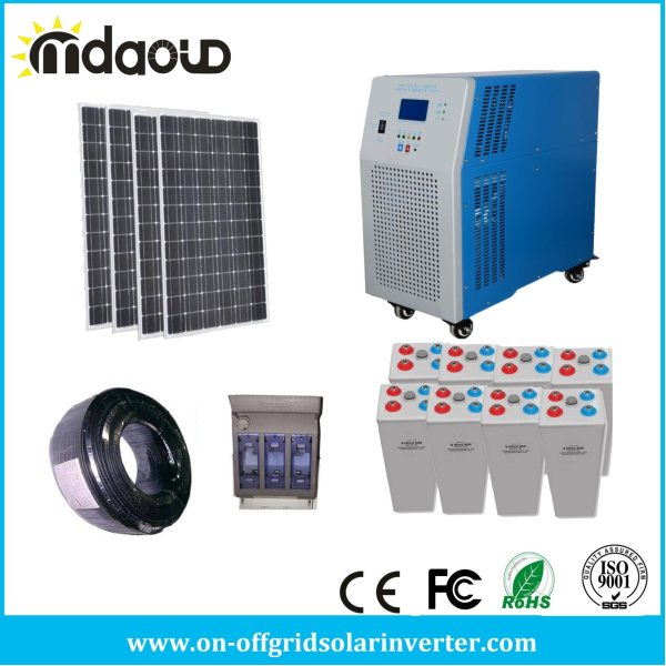 China off Grid Solar Kit 1kw 2kw 3kw 4.5kw PV Solar Panel ...