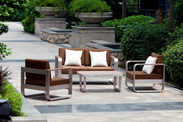 metal patio furniture Brushed Aluminum: Brushed Aluminum Outdoor Furniture