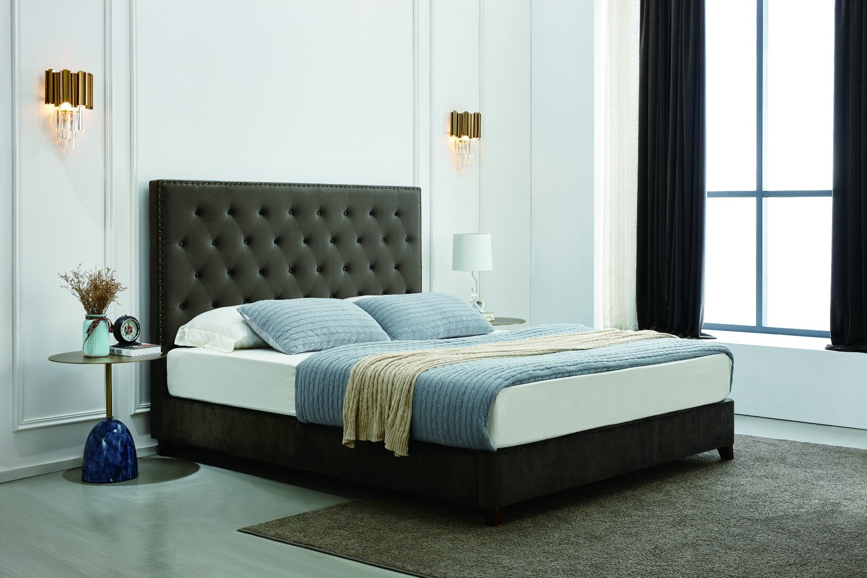 china sk02 leather bed foam mattress