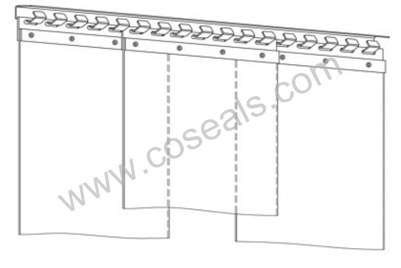 hot item mounting hardware for pvc strip curtain