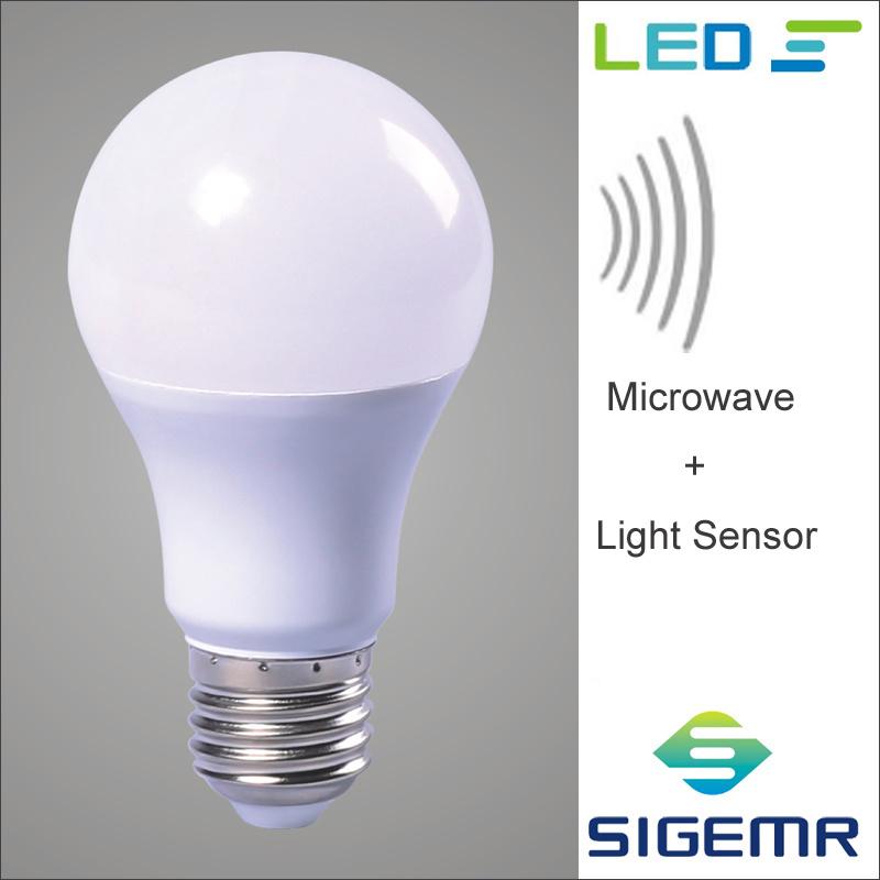 9w microwave and light sensor led bulbs