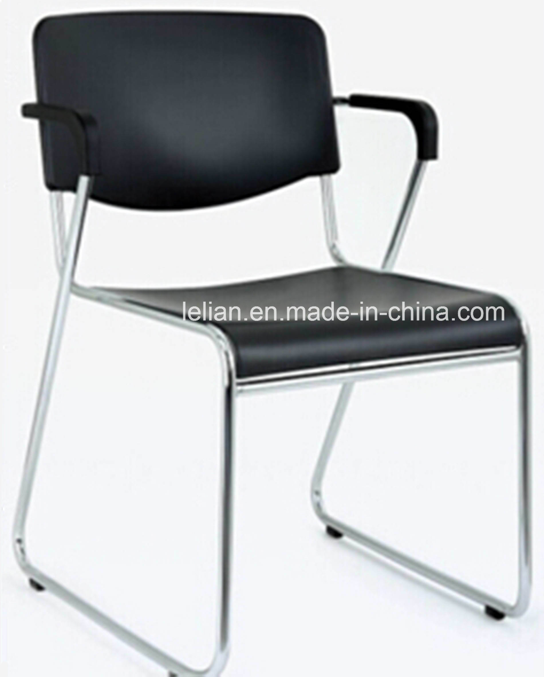 Hot Item Black Stacking Chair With Arms For Public Auditorium Furniture Ll 0055
