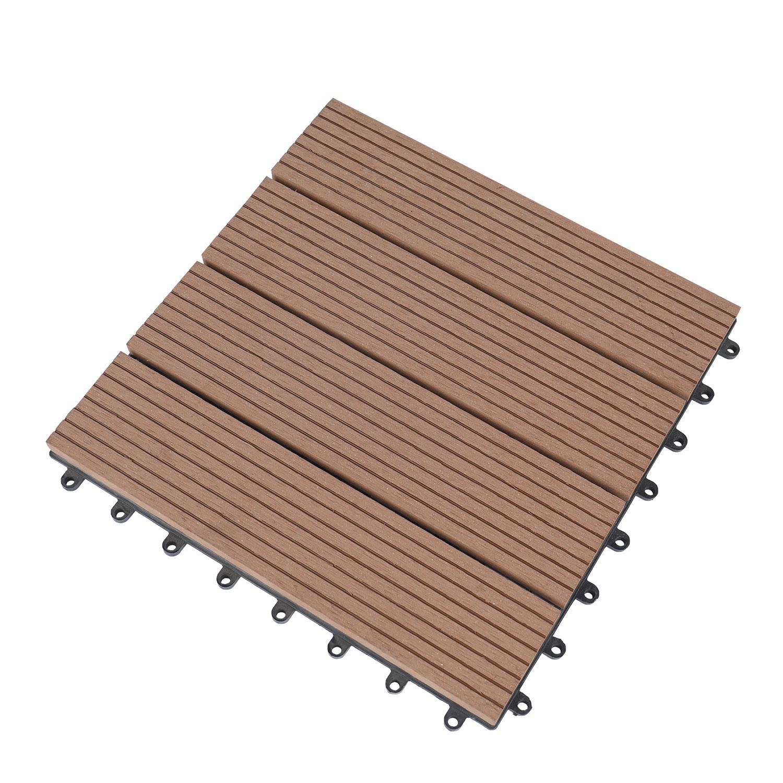 china wpc tiles hollow hard wood grain
