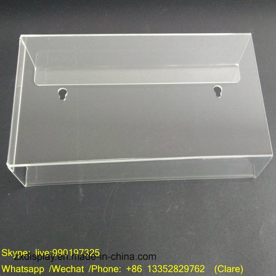 China Wall Mounted Acrylic Tissue Box Holder with Factory ... on Wall Mounted Tissue Box Holder id=75528