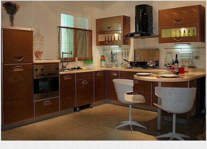 Lacquer Style Kitchen Cabinet Shining Star China