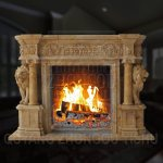China Granite Stone Indoor Decoration Lion Sculpture Marble Fireplace Mantel China Mantel Fireplace