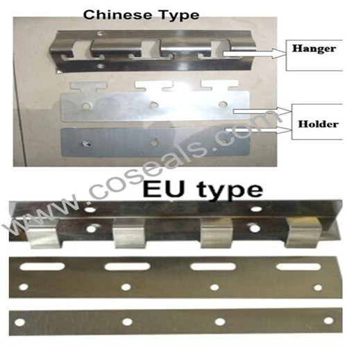 hot item stainless bracket for pvc strip curtain