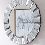 Hot Item High Quality Simple Beveled Mirror Bath Round Decorative Wall Mirror