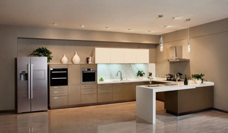 Lacquer Kitchen Cabinet Champagne Impression Lc003 China