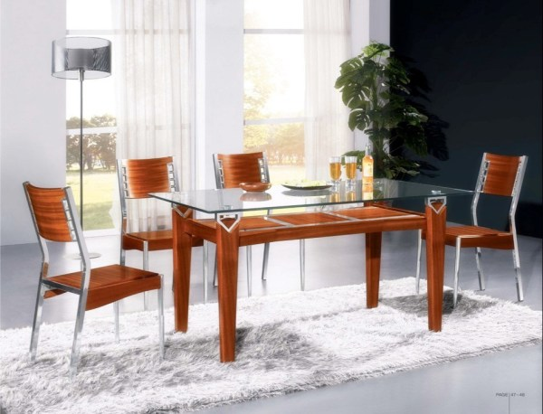 China Wood and Glass Dining Sets (CT-8053&CY-7) - China ...