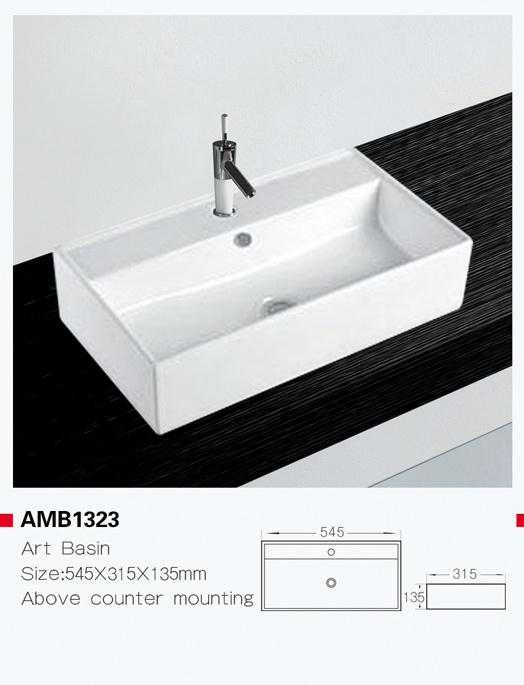 hot item amb1323 small rectangular white sanitary ware hand washing basin
