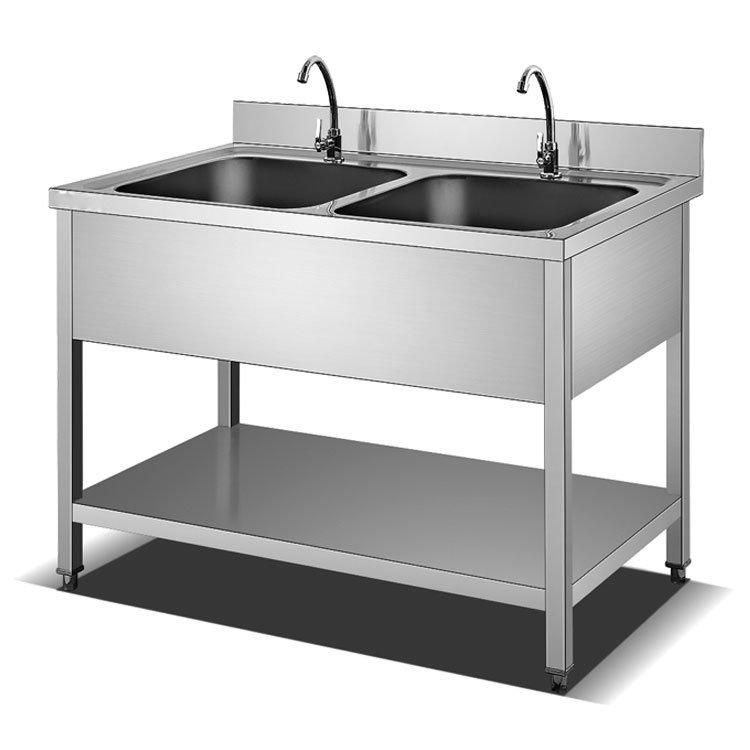 hot item 201 304 customized restaurant double bowl stainless steel kitchen sink table kitchen sink manufacturer commercial stainless steel double
