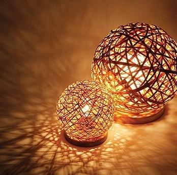 handmade rattan table lamp
