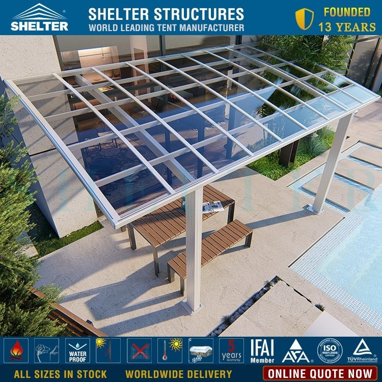 China Cheap Polycarbonate Roof Porch Cover Aluminum Frame ... on Patio Cover Ideas For Rain id=58867