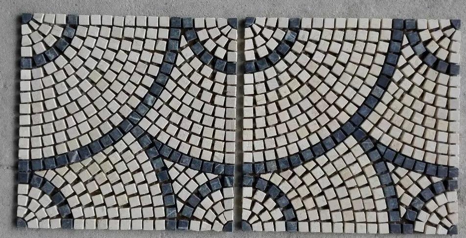 china round pattern marble stone mosaic