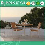 China Outdoor Wicker Dining Set Patio Dining Chair Aluminum Dining Set Garden Rattan Dining Table Wicker Square Table Rattan Weaving Table Patio Furniture China Outdoor Furniture Garden Wicker Furniture