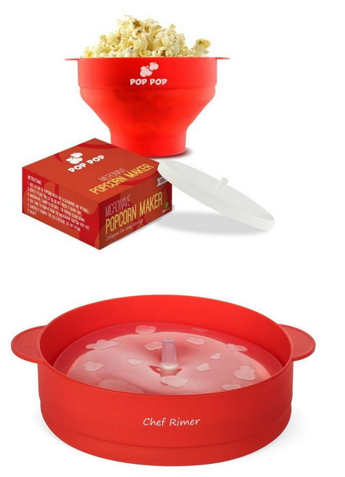 hot item microwave popcorn popper collapsible silicone bowl hot air popcorn maker healthy machine no oil needed bpa pvc free with lid and