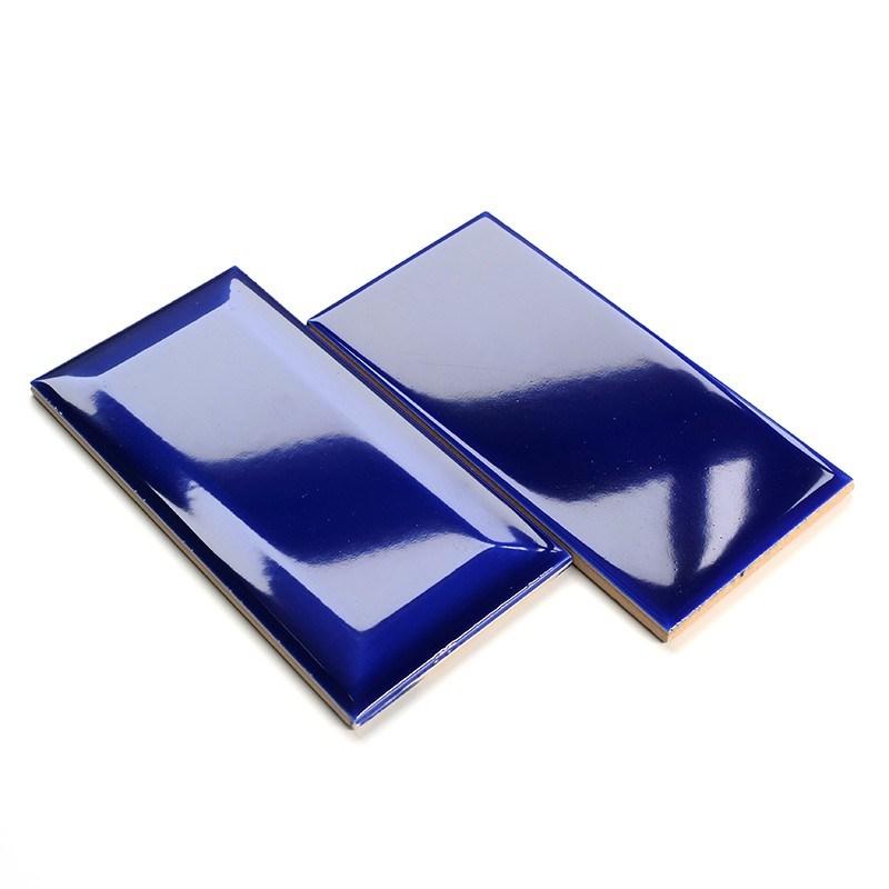 hot item ocean blue tiles 75 x 150mm glossy ceramic subway bathroom wall tiles