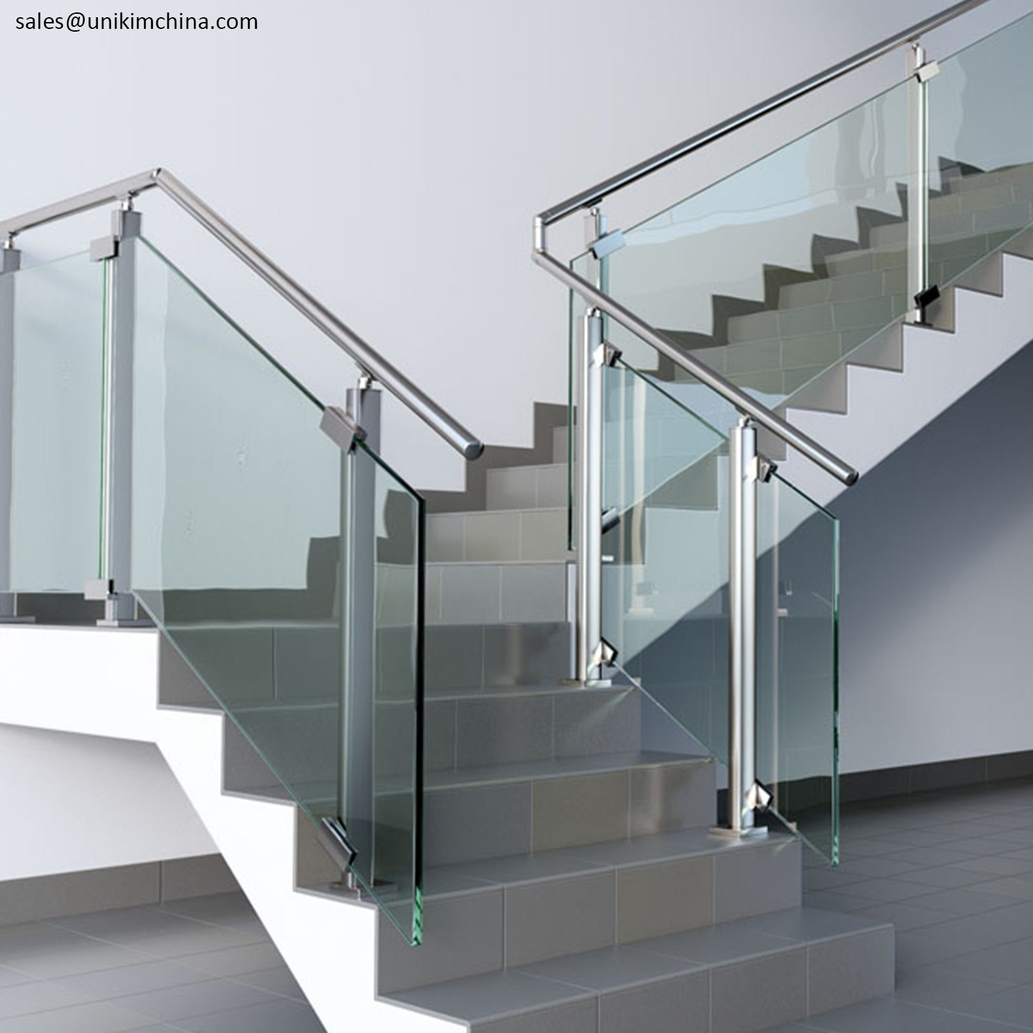 China Factory Outdoor Stainless Steel Stair Railing Balustrade | Stainless Steel Outdoor Stair Railings | Horizontal | Balcony 4X10 | Metal | Black | Hand