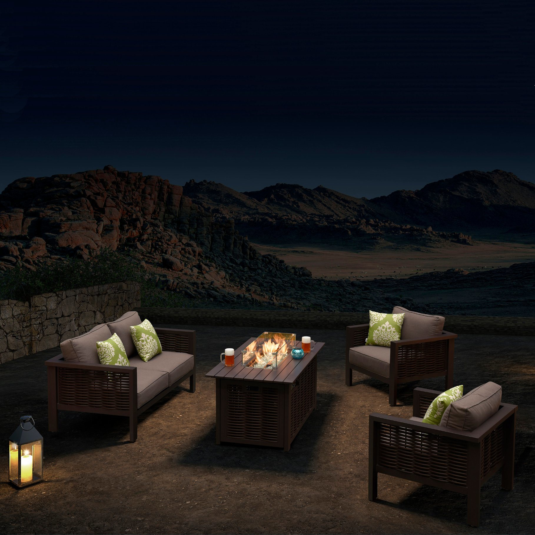 china outdoor sofa patio couch gas fire pit supplier foshan leisure touch furniture co ltd