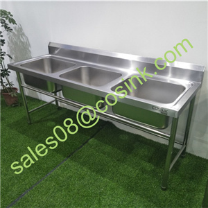 hot item china factory 201 304 industrial freestanding commercial stainless steel kitchen sink