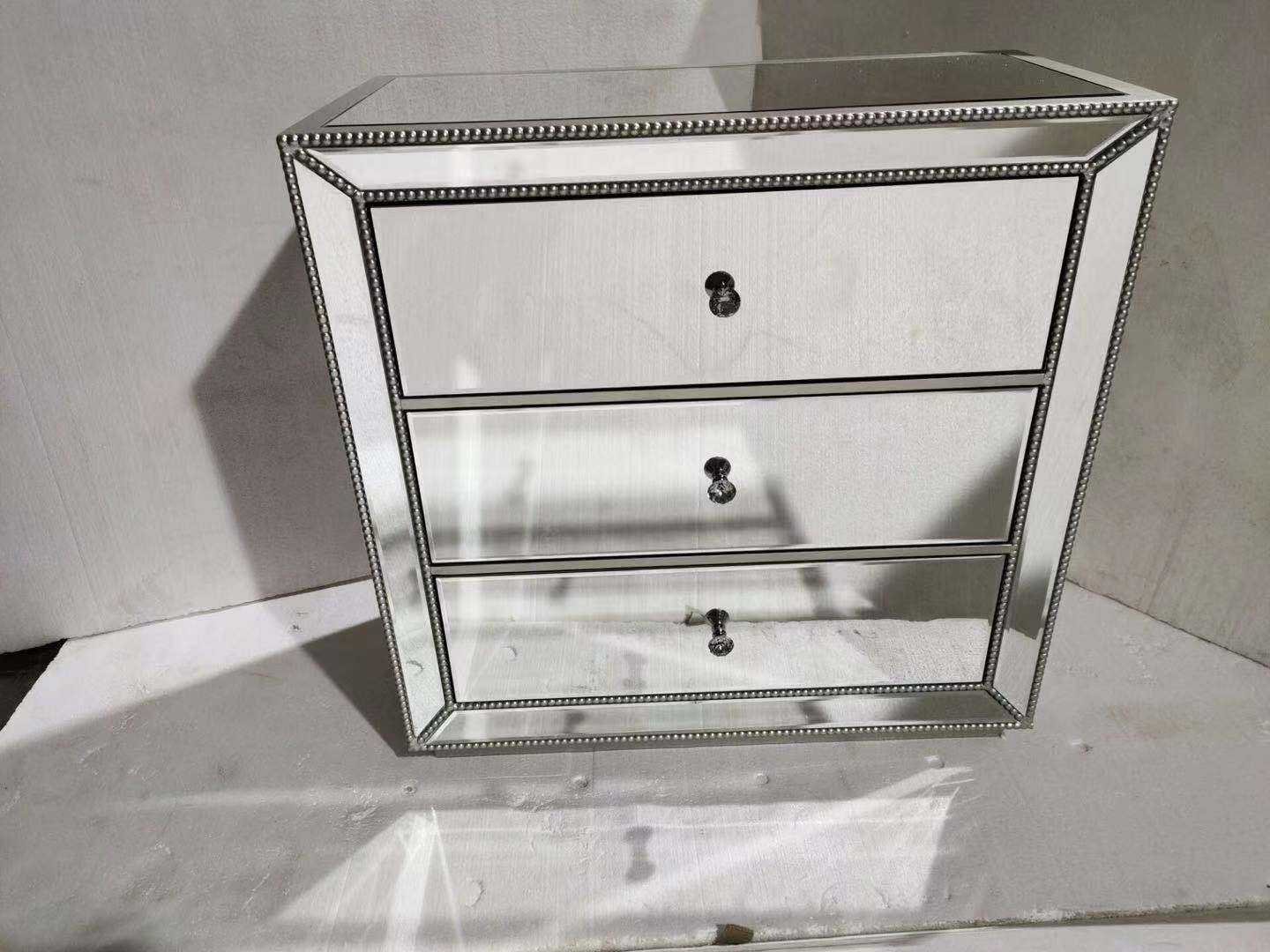 China Venetian Mirrored Mirror Bedside Bed Side Table