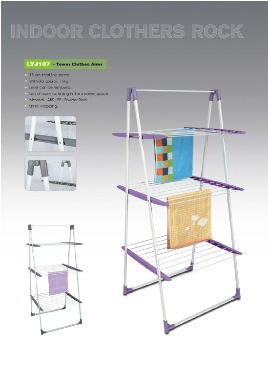 hot item tower type indoor clothes line airer rack laundry drying clothes rack