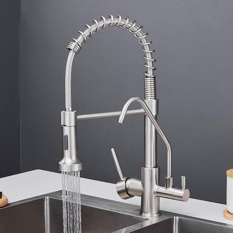 three ways sink mixer kitchen faucet