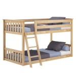 China Hot Selling Kids Bedroom Furniture Solid Pine Wood Twin Bunk Bed China Bed Wooden