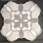 China Pretty Flower Pattern Design Carrara White Marble Water Jet Mosaic Panels Wall Floor Tiles Photos Pictures Made In China Com