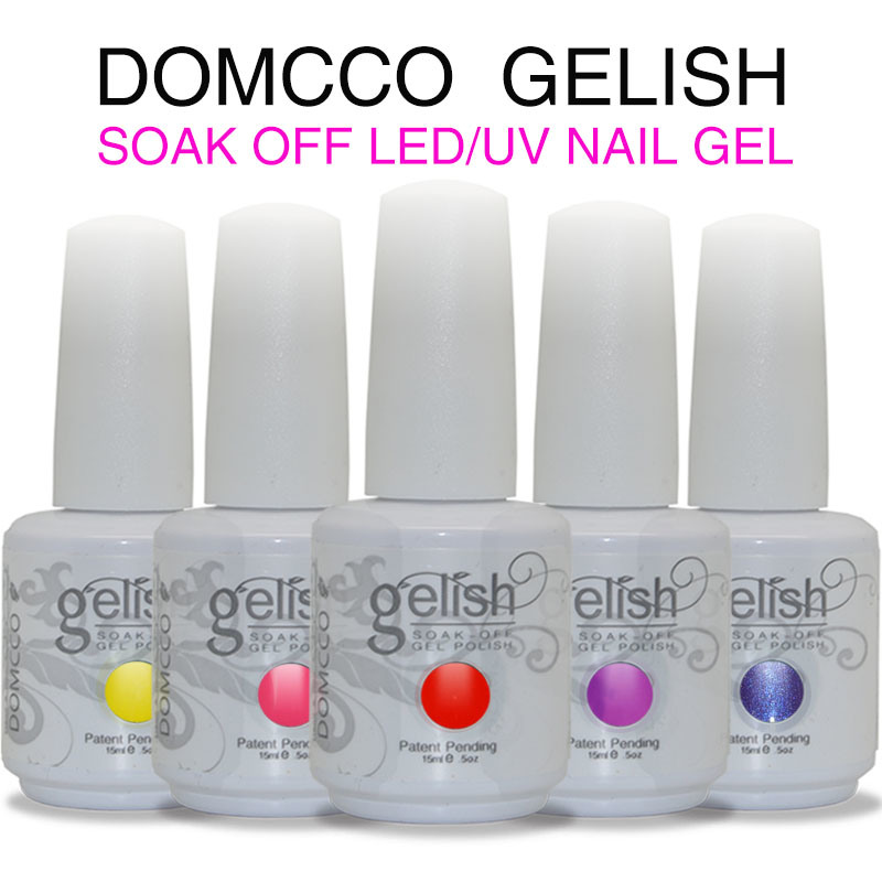 China 30 Days Long Lasting High Gloss Domcco Gelish Soak Off Led Uv Gel Nail Polish
