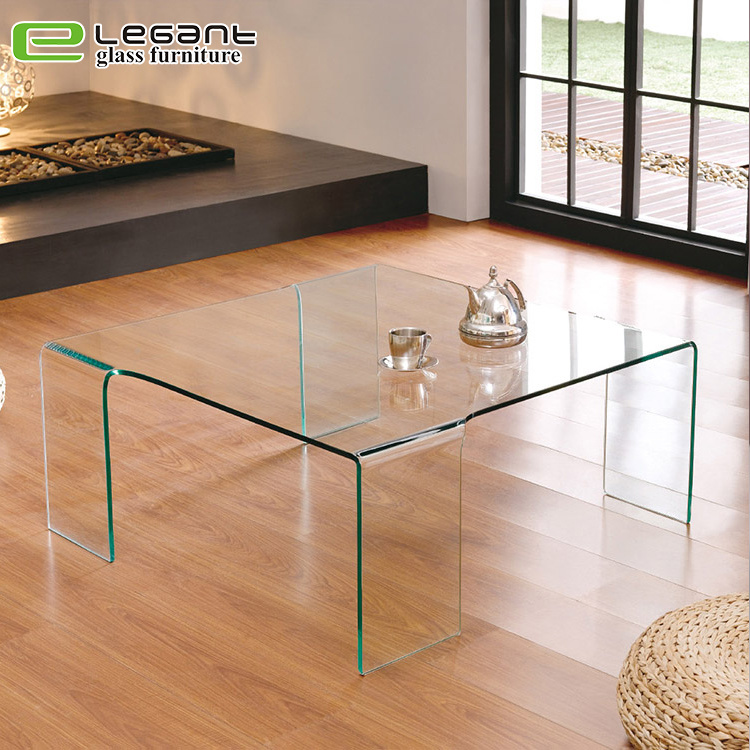 china square glass center table in