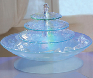 China Glass Indoor Table Top Water Fountain GF3013